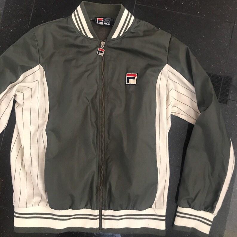 Vintage Olive Green FILA Bomber Jacket Sz L