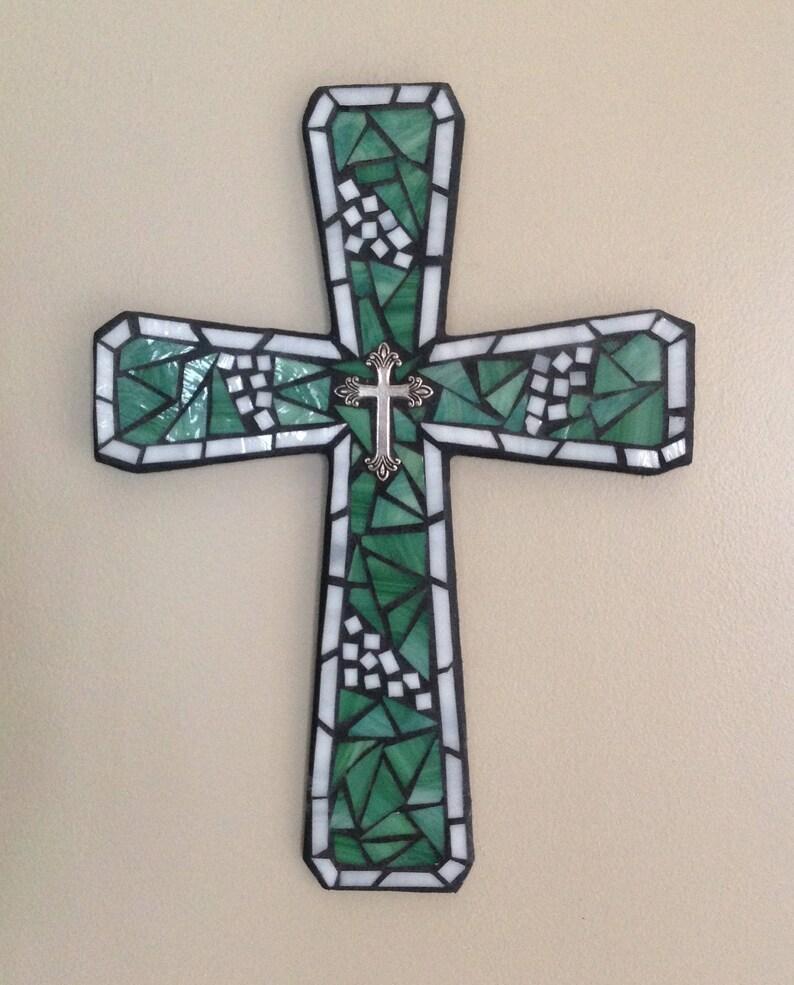 Mur Murale VerreTraditionnel MuraleApplique Religieux MosaïqueDécoration Croix Originale CroixDe 0X8OPNwkn