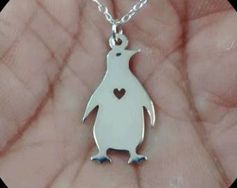 14K Two-tone Gold Penguin Charm Pendant MSRP $140