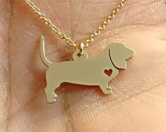 CHARM BRACELET SILVER CHAIN /& HEART Bloodhound  DOG Red Brown