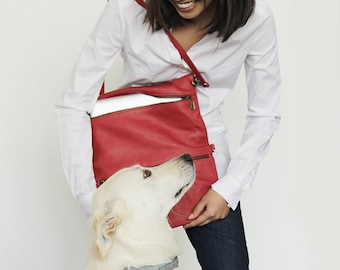 Leather laptop case in red , Red leather laptop bag, Laptop sleeve 13 , Leather laptop sleeve