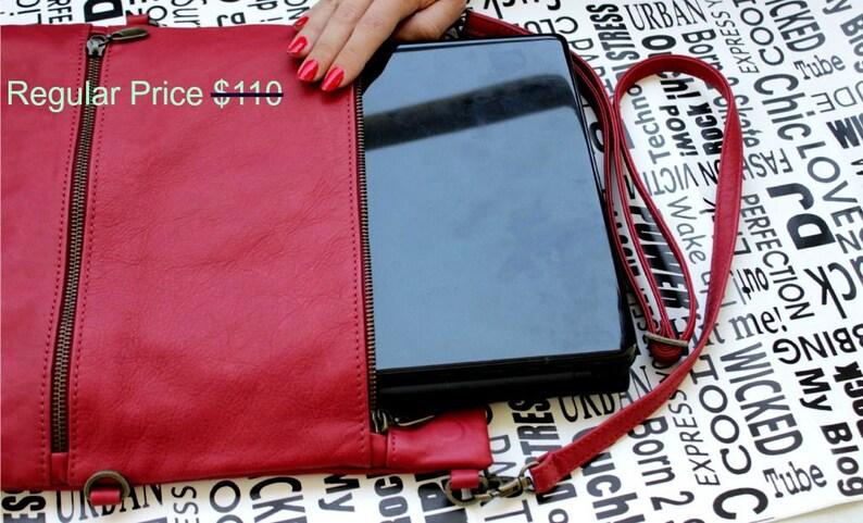 Laptop sleeve 13 inch Laptop shoulder bag Red laptop bag leather Macbook pro case Laptop sleeve with zipper