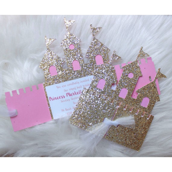 Castle Invite Invitation Princess