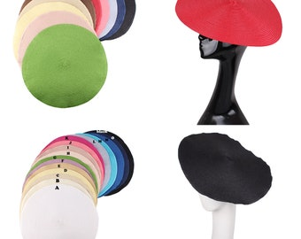 f89fa2ec 35cm Straw Fascinator Base 12 Colors to Choose for DIY Millinery Hat Making  Round Shape