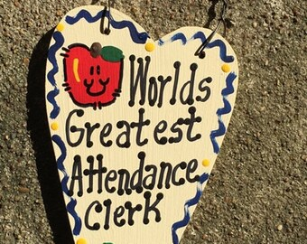Attendance Clerk Teacher Gifts 3021 Worlds Greatest Attendance Clerk