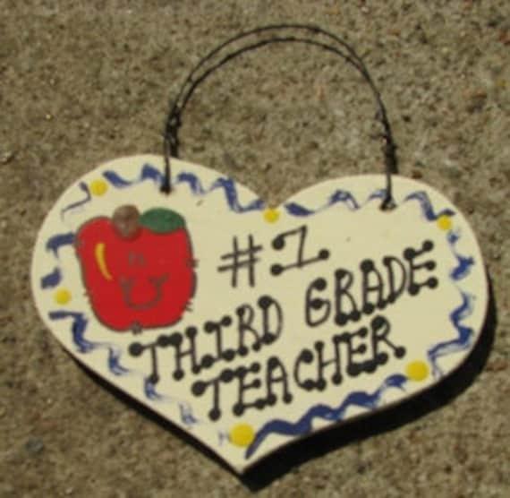 3rd Grade Teacher Gifts Number One 802 Third Grade Teacher Etsy