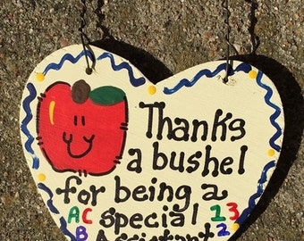 Assistant Principal Teacher Gift Thanks a Bushel  Assistant Principal