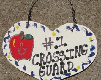 Crossing Guard Teacher Gifts Number One 812  Crossing Guard Heart