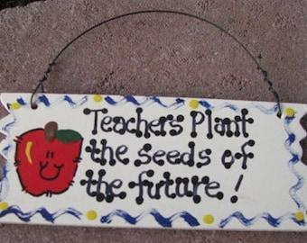 Cadeau enseignants Plant graines signe