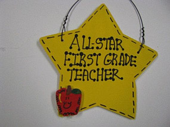 1st Grade Teacher Gifts Yellow Star Wapple 7005 First Grade Etsy