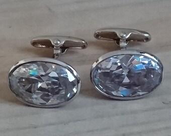 elegant sparkling foil cufflinks different colours