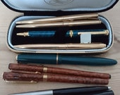 FREE SHIPPING Lot of nine vintage fountain and ballpoint pens