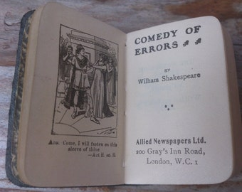 Vintage tiny book Comedy of Error's by William Shakespeare