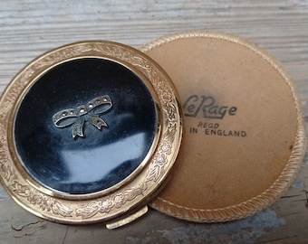 Vintage LeRage compact and pouch
