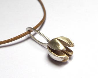 Seeds pendant - Silver Necklace - Silver pendant - Unique pendant - Seeds Collection - Free Shipping!!!