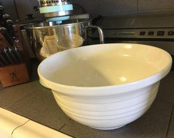Vintage large white mixing bowl