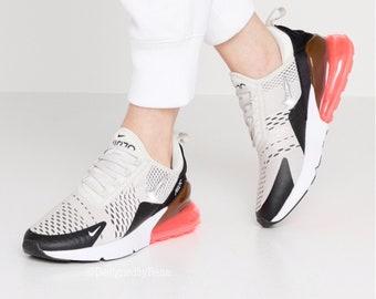 Real Charme Nike Air Max 270 (Black Light Bone Hot Punch