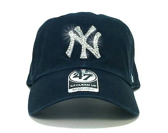 0f98f420b84 New York Yankees  47 Brand Adjustable Cap + Custom Swarovski Crystals