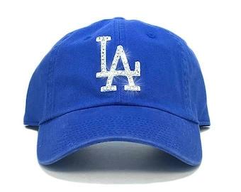 b256013169a3d Los Angeles Dodgers  47 Brand Adjustable Cap + Custom Swarovski Crystals