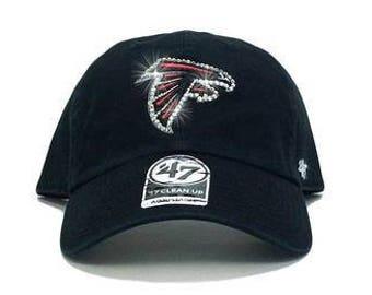 a945aa308159b Atlanta Falcons  47 Brand Adjustable Cap + Custom Swarovski Crystals