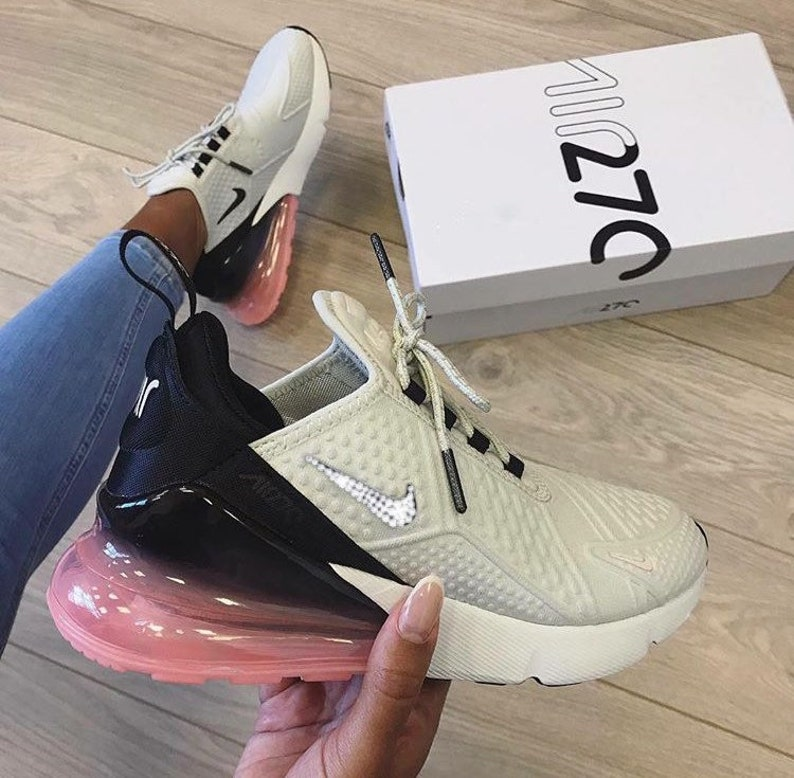 best service c0c7d 60aca Nike Air Max 270 SE Hand Customized Swarovski Crystals   Etsy