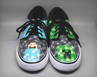 Minecraft shoes | Etsy