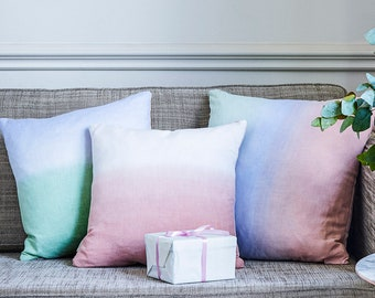Olivia Rubin x Etsy Pink Ombre Linen Cushion Cover - Small