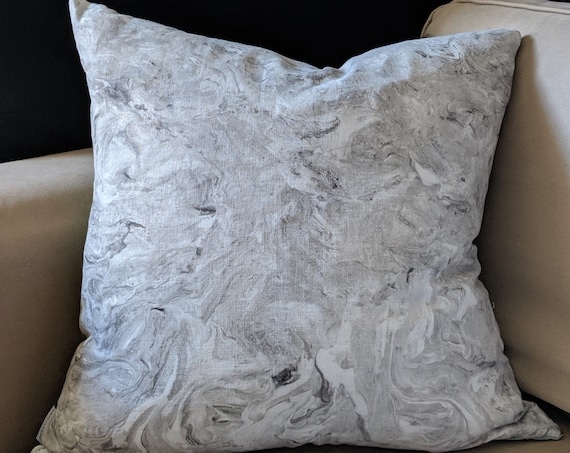 Linen hand painted cushion