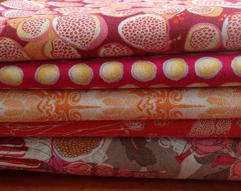 Fat quarter bundle -Piecemeal by Tina Givens *pink*
