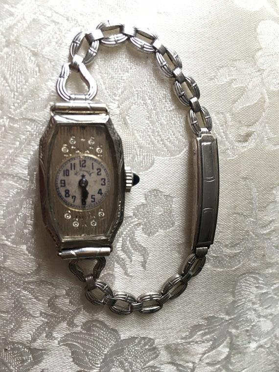 14K Hallwatch, art deco watch, Edwardian watch, La