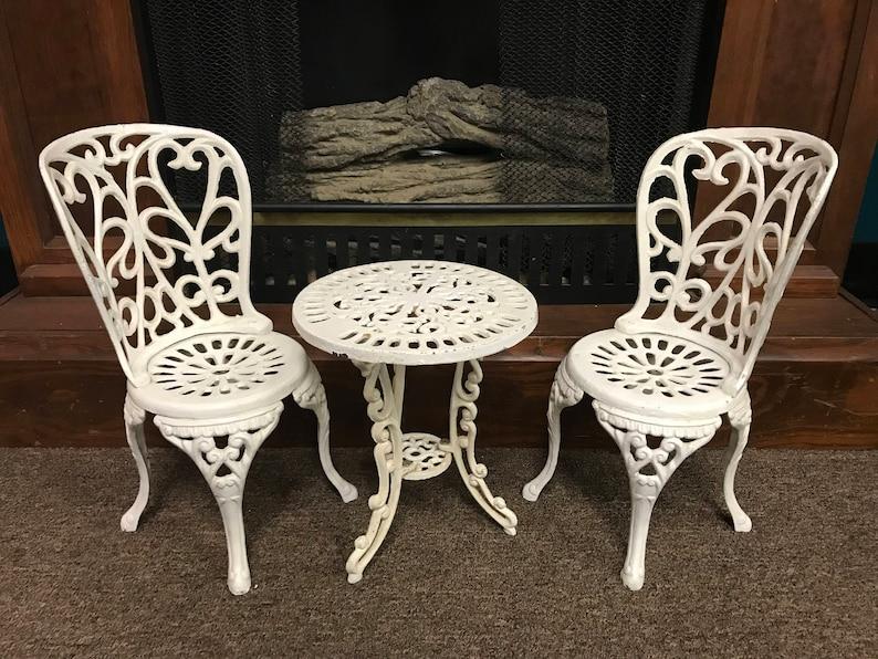 Ensemble de chaise et Table en fer forgé Antique miniature | Etsy