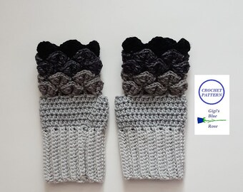 Crochet Dragon Gloves Pattern Etsy