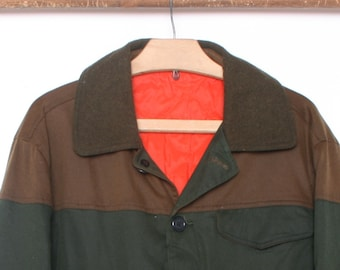 819fa1a60f895 Men's S | Vintage ORVIS Brown & Green Waxed Cotton Canvas Hunting Jacket