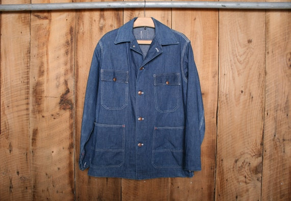 Men's Sz. M | Vintage BIG MAC Blue Denim Chore Wor