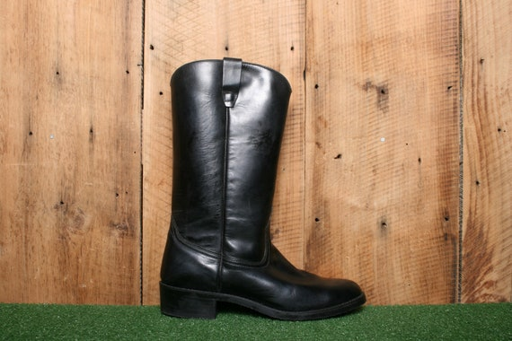 Sz. 10.5 EE | Vintage WEINBRENNER Black Leather 13