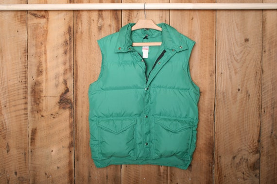 Men's Sz. L | Vintage FROSTLINE Green Nylon Down I