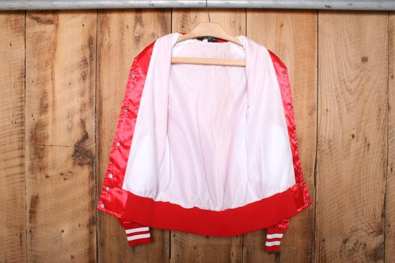 Vintage 80/'s Sportsmaster AFL-CIO Service Employees International Red Satin Jacket Men/'s Sz Made in USA S
