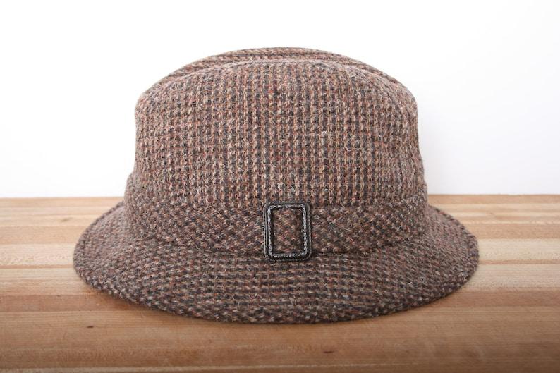 255b05487 Sz. 7 1/8   Vintage PENDLETON 100% Wool Tweed Fedora Hat
