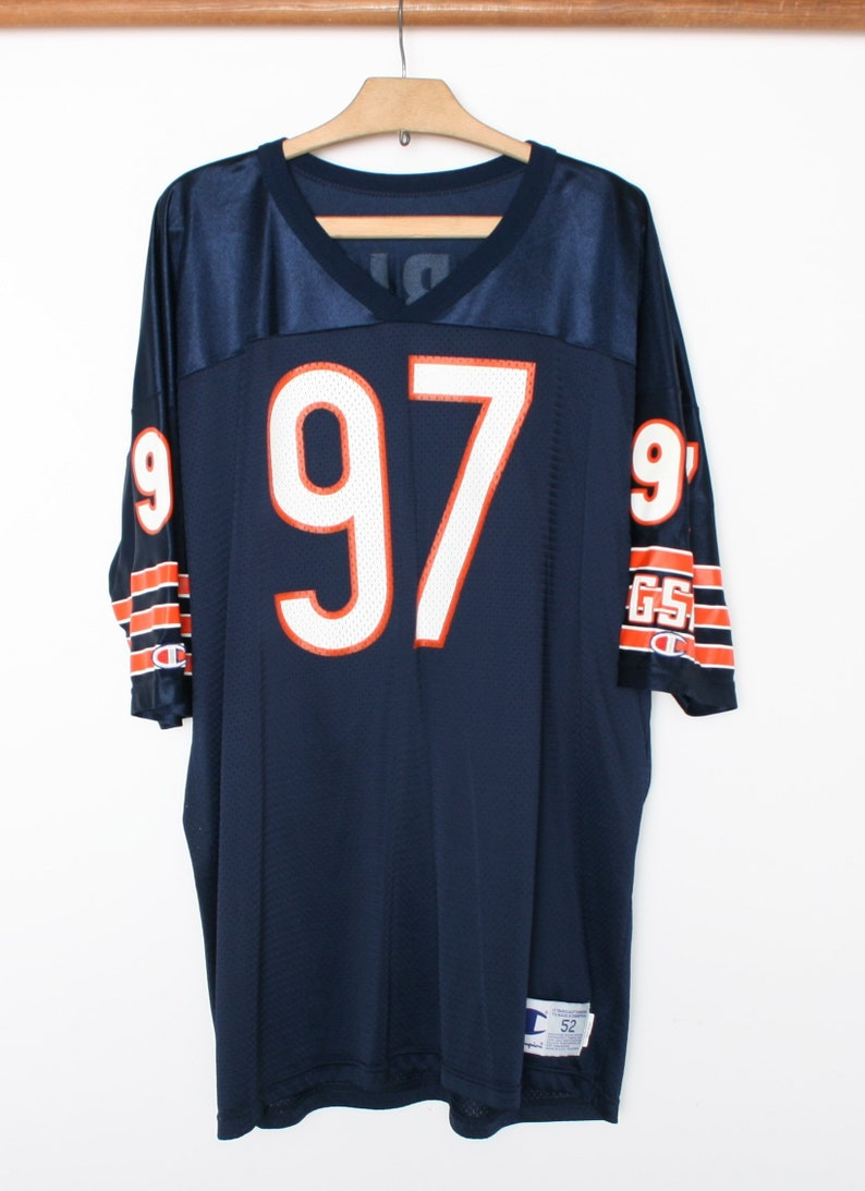 best sneakers 08806 f21cf Men's Sz. 52 | Vintage CHAMPION Chicago Bears Chris Zorich #97 Blue Mesh  Football Jersey - Made in USA