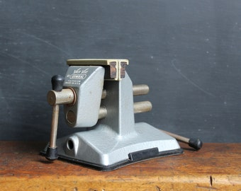 Vintage Vacu Vice - by General - Suction Mounted - Soft Jaws - Rubber Jaws