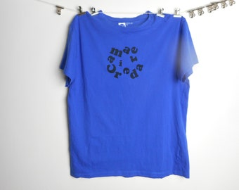 Camaraderie blue medium tshirt tees tee t-shirt cycling vintage hipster  bike retro baggy eddy merckx thrift rare cheap regular fit 15853f83f