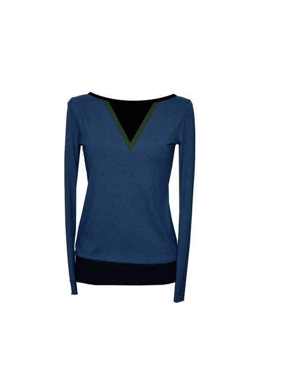 blue long BIC2 shirt Longsleeve women sleeve 5q7wa
