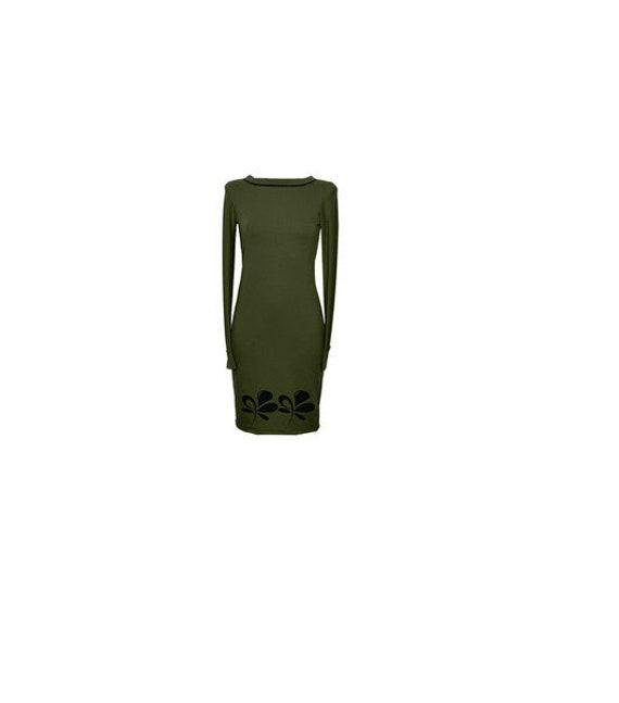 green Black sleeve dress Sweat dress Fabian black olive Iza women long NAJA1 qXP8Tn7w