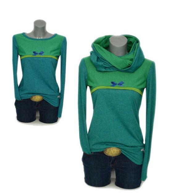 MEL2 loop women hoodie set shirt green green Fabian Longsleeve petrol hoodie Iza Ladies loop 1pqF6F