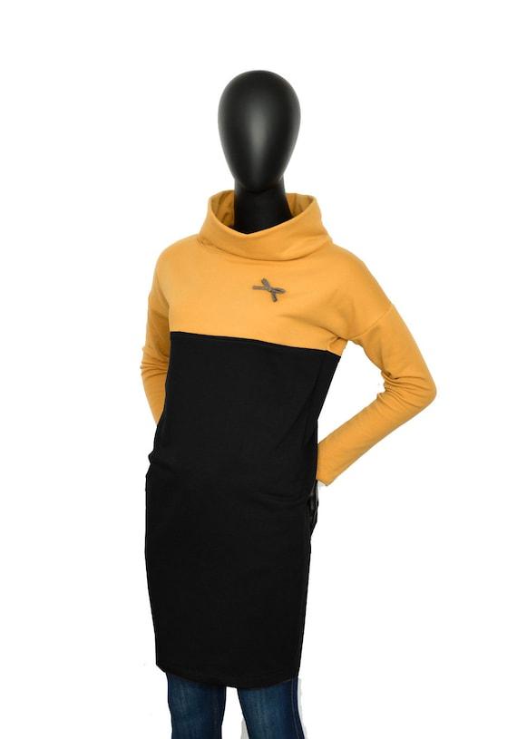 ocher locker dress dresses ladies Fabian yellow black Sweat Women Xy07 dress black Iza xBIqfw