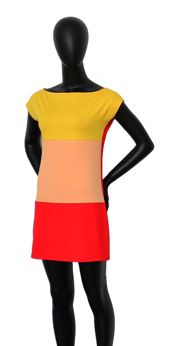 red ffx ladies Fabian yellow Iza dress short q1PIwwUE