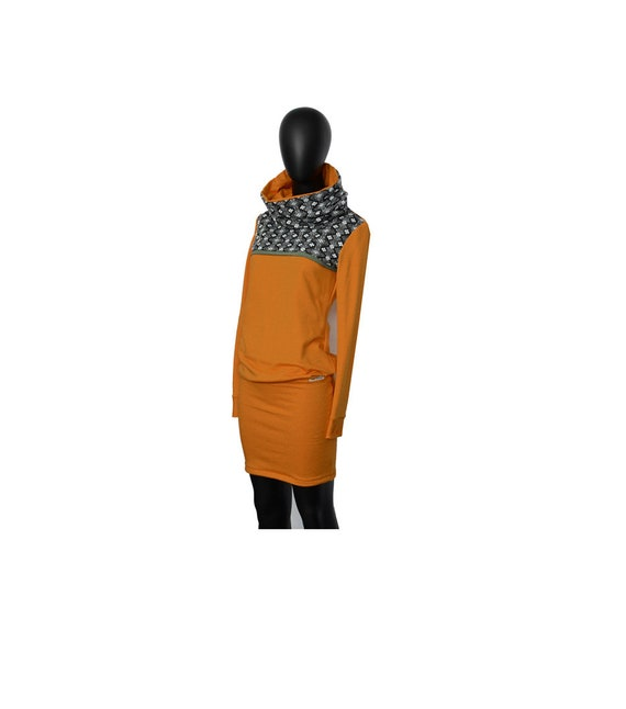 dress sweat Retro Ochre ho Hoodie 101 Black q5S4zdw