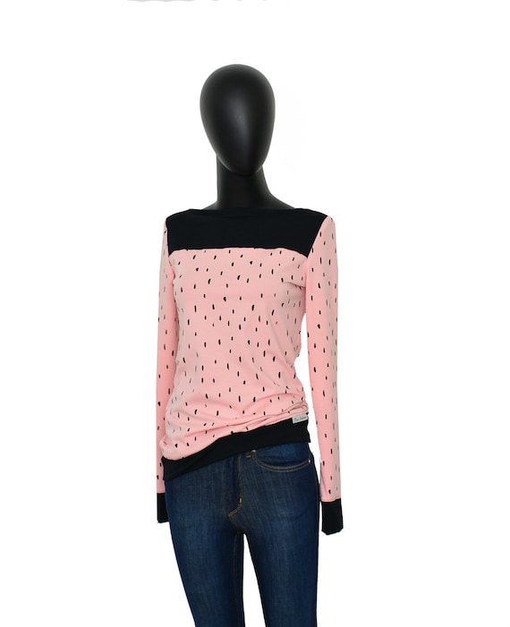 drop Shirt Longsleeve black ladies CATS5 Pink Uwq1Sq6fE