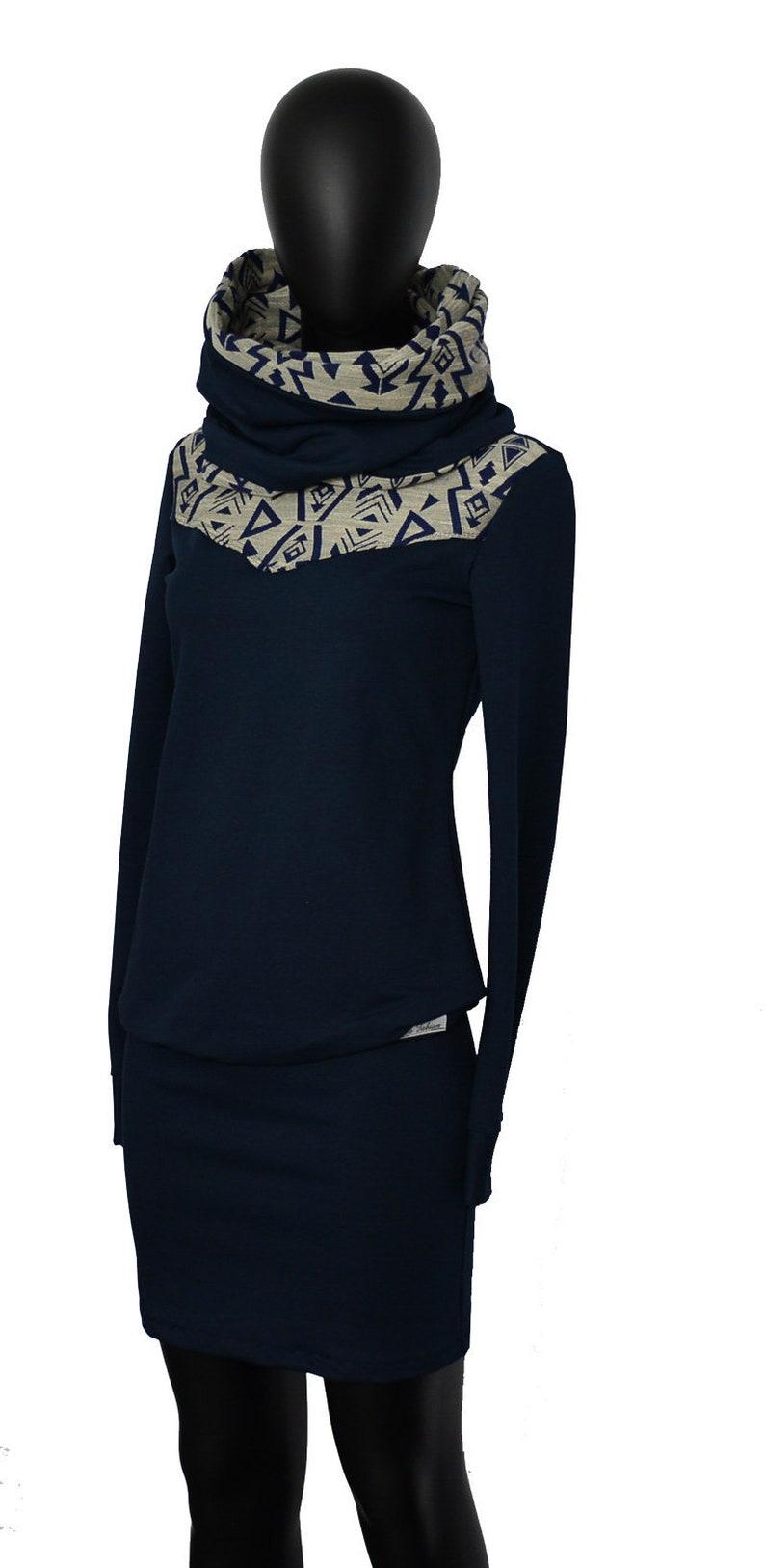 Preis vergleichen glatt Premium-Auswahl Dress Hoodie Set Loop Dress Aja Blue Pattern damen women blue