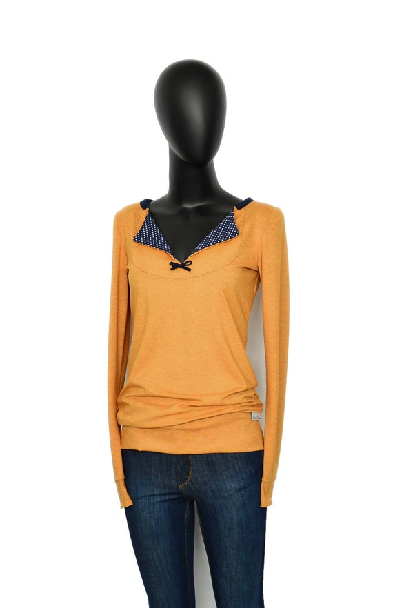 sleeved yellow Longsleeve pullover ochre long VV1 gOgnX8xq